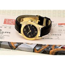 PATEK PHILIPPE - A fine yellow gold wristwatch with sweep centre seconds and date, 1996