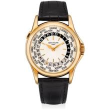 PATEK PHILIPPE - A fine and rare pink gold worldtime wristwatch, 2003