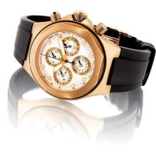 GIRARD PERREGAUX - A fine pink gold perpetual calendar chronograph wristwatch with day of the week, 24 hours and day and night indicator, Circa 2012