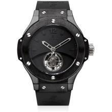 HUBLOT - A fine and rare black ceramic limited edition tourbillon wristwatch, Circa 2007