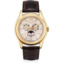 PATEK PHILIPPE - A fine and rare pink gold limited edition annual calendar wristwatch with sweep centre seconds, moon phases, power reserve, silicon escape wheel and silinvar spiromax balance spring, original certificate and fitted presentation box,