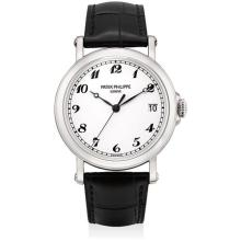 PATEK PHILIPPE - A fine and very rare white gold limited edition wristwatch with sweep centre seconds, date and original certificate, made to commemorate the re-opening of the Patek Philippe boutique in Beijing in 2014, 2014