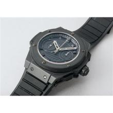 HUBLOT - A unique titanium and ceramic carbon split-seconds chronograph wristwatch with foudroyante and rubber bracelet, made especially for Jean Claude Biver on the occasion of his 60th birthday, 2009