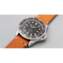 TUDOR - A very attractive stainless steel wristwatch with black