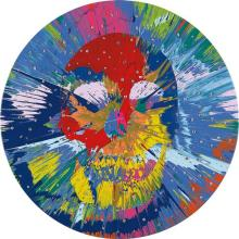 DAMIEN HIRST - Beautiful Catequil Negativism Painting for Nick (with Diamonds), 2011