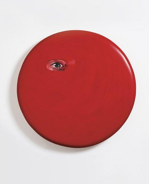 TONY OURSLER Red Panel, 2004 Fiberglass sculpture,