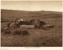 Edward S. Curtis: Atsina Burial, From The North American Indian, Volume 5, 1908, photogravure,