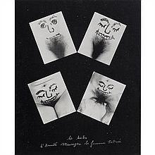 Annette MESSAGER (née en 1943) Le barbu d'Annette Messager, la femme tatouée, 1975 Impression sur papier Signé, titré et numéroté 39...