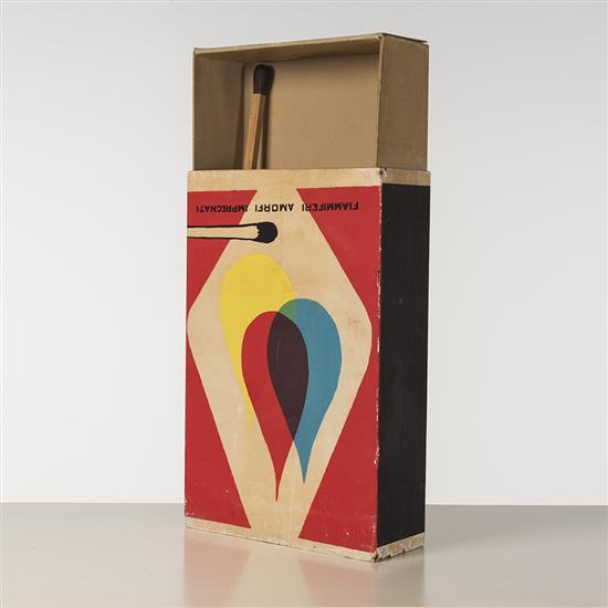 Raymond Hains (1926-2005)Saff, Omaggio a Mondrian e a De Chirico, 1970