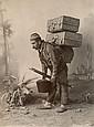 ABDULLAH Frères - SÉBAH & JOAILLIER Porteur d'eau de Sébil - Marchand de pommes - Portefaix, années 1880