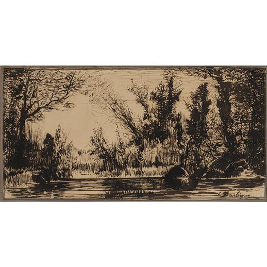 Charles François Daubigny (1817-1878)Rives des bords de l''Oise