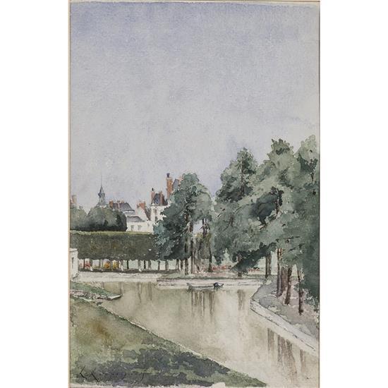 Henri-Joseph Harpignies (1819-1916)Canal, 1869