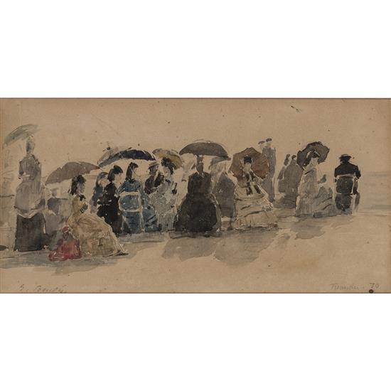 Eugène Boudin (1824-1898)Crinolines sur la plage de Trouville,1870