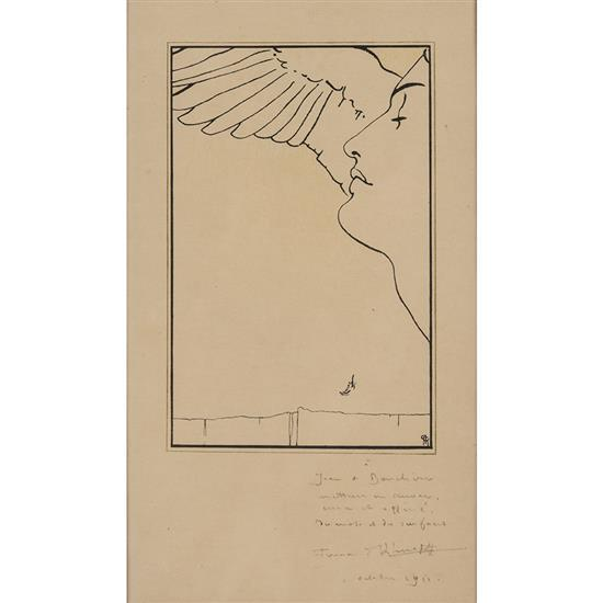 Fernand Khnopf (1858-1921)Une tête ailée, 1911