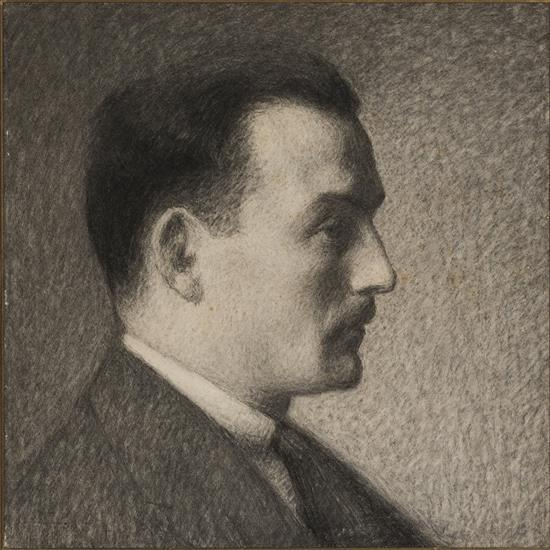 Achille Laugé (1861-1944)Portrait d''homme