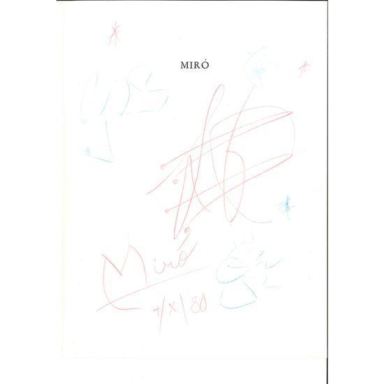 Joan Miró (1893-1983)Sans titre, 1980