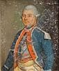 École française du XVIIIe siècle Portrait d'un officier