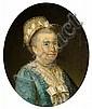 École française vers 1780 Marguerite Sellier, épouse d'Henri Boulard