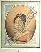 École française du XIXe siècle Portrait d'homme Portrait de femme