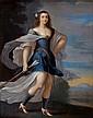 Attribué à Joseph WERNER le jeune (1637-1710) Portrait de jeune femme en Diane