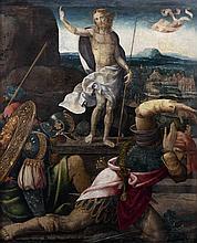 École FLAMANDE vers 1530, atelier de Barend van ORLEY La Résurrection du Christ