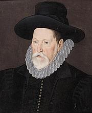 École ANGLAISE vers 1560 Portrait d'un administrateur