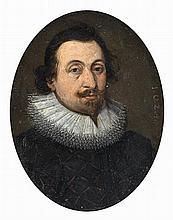 École FLAMANDE 1624 Portrait en buste d'un gentilhomme à la fraise