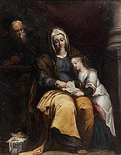 École MADRILENE vers 1650 L'Education de la Vierge