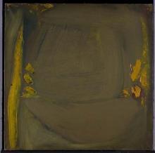 Olivier Debré (1920-1999)Ocre, Jardin d'hiver à Cachan, 1964Huile sur toileSignée, titrée et datée Automne 64 au dos100 × 100 cmProv..
