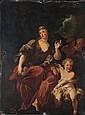 CT Attribué à Pierre-Jacques CAZES  (Paris 1676-1754) Allégorie de Flore Toile 130 x 98 cm  (Restaurations et manques)R...