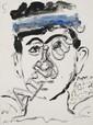 Yannis TSAROUCHIS Étude de tête, 1988