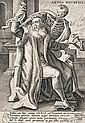 Crispin de Passe l'Ancien (1564-1637) Aetas Decrepita (la Mort et le vieillard). Pl. 6 de la suite Les Âges de l'homme. Burin. 148 x