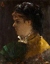 Alfred STEVENS (1823-1906) Femme à l'éventail