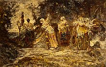 Adolphe MONTICELLI (1824-1886) Femmes au puits