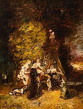 Adolphe MONTICELLI (1824-1886) Les premiers pas, circa 1875-1878