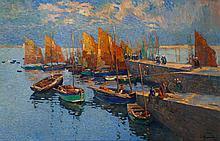 Louis AZEMA (1876-1963) Port breton, 1930