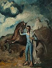 Pere CREIXAMS PICO (1893-1965) Le saltimbanque et son cheval