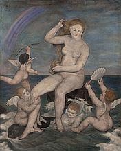 Toshio BANDO (1895-1973) Venus sortie des eaux