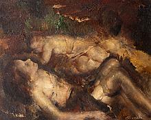 Grigory GLUCKMANN (1898-1973) Étude (Les deux amies)