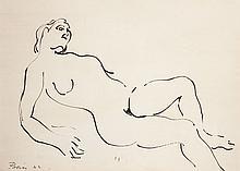 Francisco BORES (1898-1972) Le repos du modèle