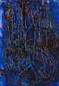 Thanos TSINGOS (1914-1965) Bateaux dans la nuit, 1957