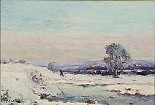 Emmanuel de LA VILLEON (1858-1944) Village de Saint Verain (Nièvre) Huile sur toile signée en bas à gauche, située au dos 50 x 73 cm...