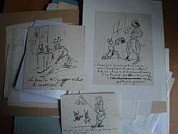 CHAM (Paris 1819 - 1879) - Lot de 16 caricatures