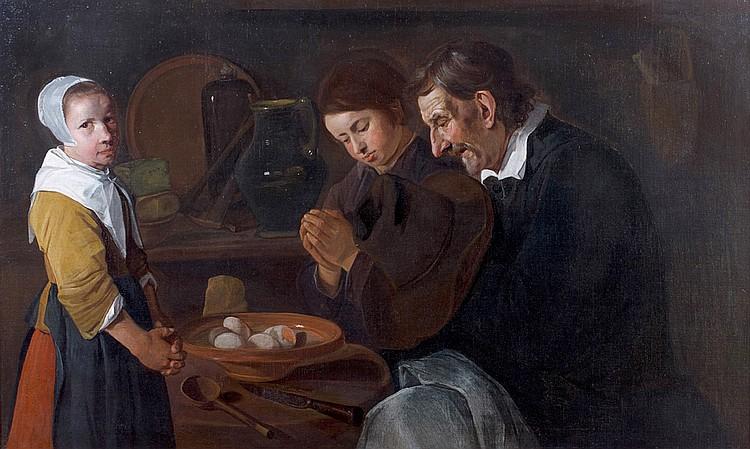 Johannes HALS (Haarlem 1617/23-1674 ?) Le Bénédicité