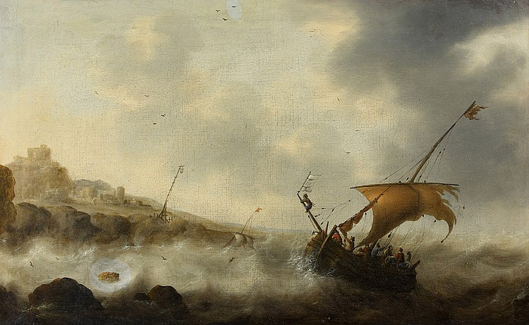 Attribué à Jacob Adriaensz BELLEVOIS (1621-1675) Marine