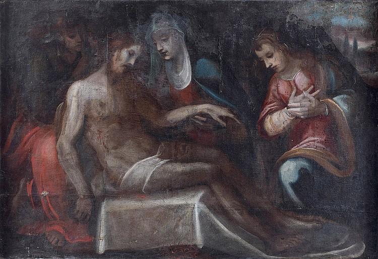 École FLORENTINE du XVIIe siècle, suiveur de CECCO BRAVO Pietà