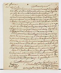 ANCIEN REGIME. 5 lettres ou pièces, XVIIIe s. François de CHEVERT (L.S. sur les camps des troupes, Dunkerque 1759). J.-B. COLBERT D...