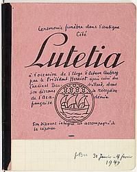 Ferdinand BAC (1859-1952) dessinateur et caricaturiste. MANUSCRIT autographe signé, Cérémonie funèbre dans l'antique Cité de Lutetia..