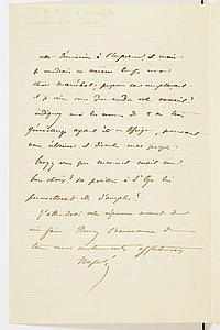 Napoléon BONAPARTE, dit le Prince Napoléon (1822-1891) fils de Jérôme Bonaparte, homme politique démocrate. 2 L.A.S., novembre-décem...