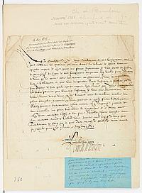 Charles, cardinal de BOURBON (1520-1590) cardinal, légat d'Avignon, partisan des Guises, il fut proclamé roi des Ligueurs sous le no..